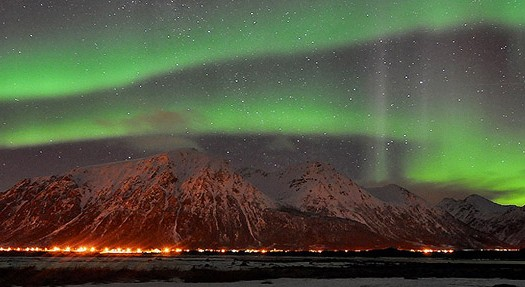 Auroras Boreales en Lofoten, Noruega