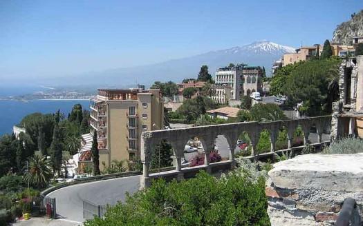Etna desde Taormina, Sicilia (Italia) - Matthew Simoneau | namasteviajes.com