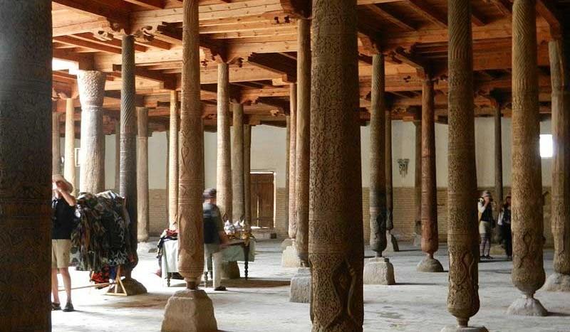 Mezquita de Juma, Jiva (Uzbekistán) - Ljuba brank at Sloveninan Wikipedia | namasteviajes.com